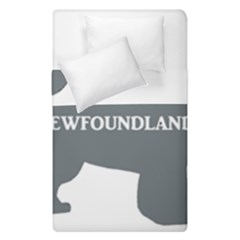 Newfie Name Silo Grey Duvet Cover Double Side (Single Size)