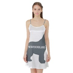 Newfie Name Silo Grey Satin Night Slip
