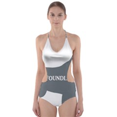 Newfie Name Silo Grey Cut-Out One Piece Swimsuit