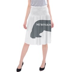 Newfie Name Silo Grey Midi Beach Skirt