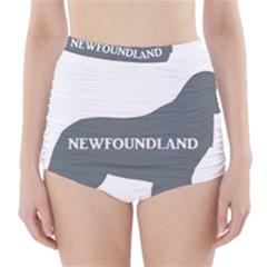 Newfie Name Silo Grey High-Waisted Bikini Bottoms