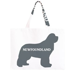 Newfie Name Silo Grey Large Tote Bag