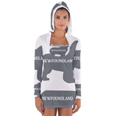 Newfie Name Silo Grey Women s Long Sleeve Hooded T-shirt