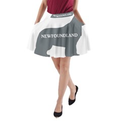 Newfie Name Silo Grey A-Line Pocket Skirt