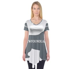 Newfie Name Silo Grey Short Sleeve Tunic