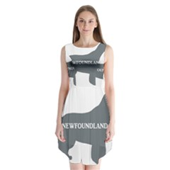 Newfie Name Silo Grey Sleeveless Chiffon Dress