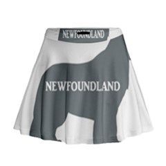 Newfie Name Silo Grey Mini Flare Skirt