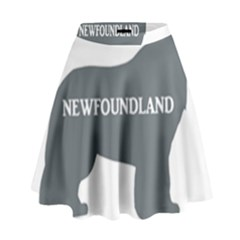 Newfie Name Silo Grey High Waist Skirt