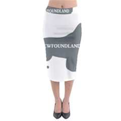 Newfie Name Silo Grey Midi Pencil Skirt