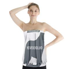 Newfie Name Silo Grey Strapless Top