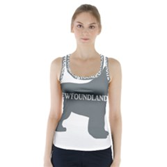 Newfie Name Silo Grey Racer Back Sports Top