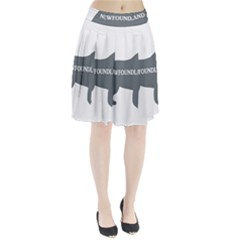 Newfie Name Silo Grey Pleated Skirt