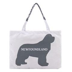 Newfie Name Silo Grey Medium Tote Bag