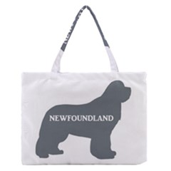 Newfie Name Silo Grey Medium Zipper Tote Bag