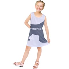 Newfie Name Silo Grey Kids  Tunic Dress