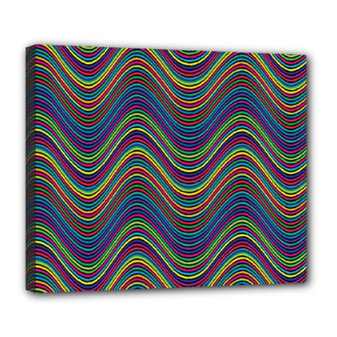 Decorative Ornamental Abstract Deluxe Canvas 24  x 20