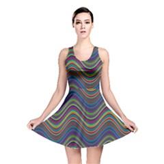 Decorative Ornamental Abstract Reversible Skater Dress