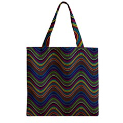 Decorative Ornamental Abstract Zipper Grocery Tote Bag