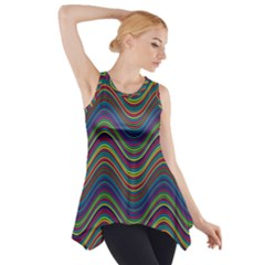 Decorative Ornamental Abstract Side Drop Tank Tunic