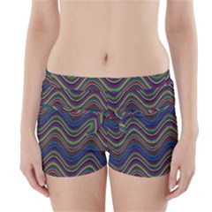 Decorative Ornamental Abstract Boyleg Bikini Wrap Bottoms