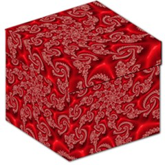 Fractal Art Elegant Red Storage Stool 12