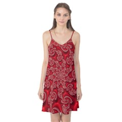 Fractal Art Elegant Red Camis Nightgown