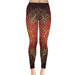 Floral Kaleidoscope Leggings