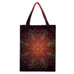 Floral Kaleidoscope Classic Tote Bag