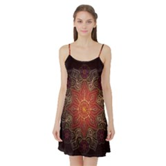 Floral Kaleidoscope Satin Night Slip