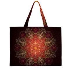 Floral Kaleidoscope Large Tote Bag