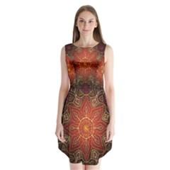 Floral Kaleidoscope Sleeveless Chiffon Dress