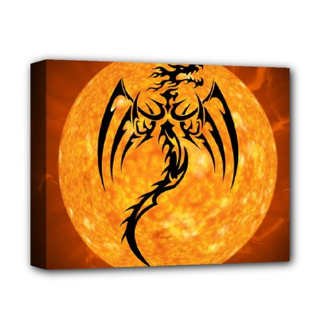 Dragon Fire Monster Creature Deluxe Canvas 14  x 11