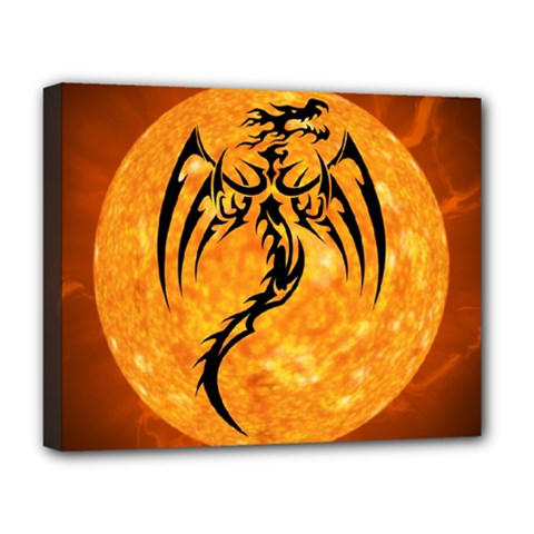 Dragon Fire Monster Creature Deluxe Canvas 20  x 16