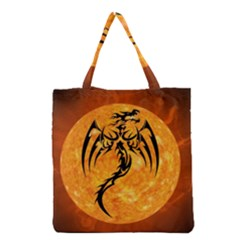 Dragon Fire Monster Creature Grocery Tote Bag