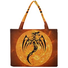 Dragon Fire Monster Creature Mini Tote Bag