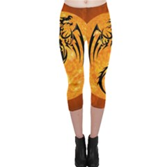 Dragon Fire Monster Creature Capri Leggings