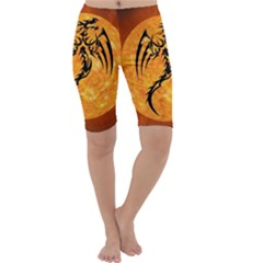 Dragon Fire Monster Creature Cropped Leggings