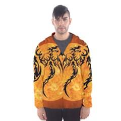 Dragon Fire Monster Creature Hooded Wind Breaker (men)