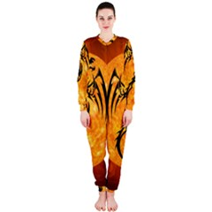 Dragon Fire Monster Creature OnePiece Jumpsuit (Ladies)