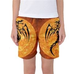 Dragon Fire Monster Creature Women s Basketball Shorts
