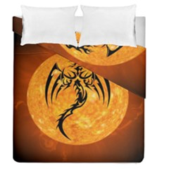 Dragon Fire Monster Creature Duvet Cover Double Side (queen Size)