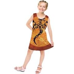 Dragon Fire Monster Creature Kids  Tunic Dress