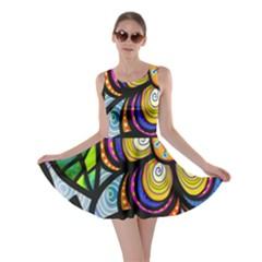 Folk Art Flower Skater Dress