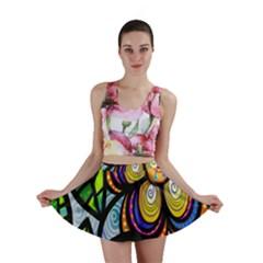 Folk Art Flower Mini Skirt