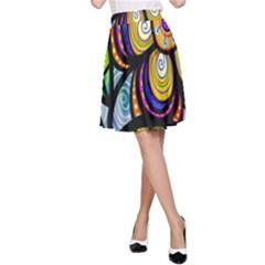 Folk Art Flower A-Line Skirt