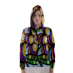 Folk Art Flower Hooded Wind Breaker (Women)