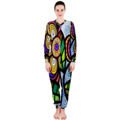 Folk Art Flower Onepiece Jumpsuit (ladies)