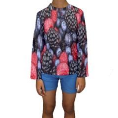 Forest Fruit Kids  Long Sleeve Swimwear