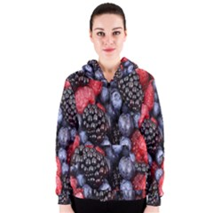 Forest Fruit Women s Zipper Hoodie