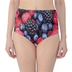 Forest Fruit High-Waist Bikini Bottoms